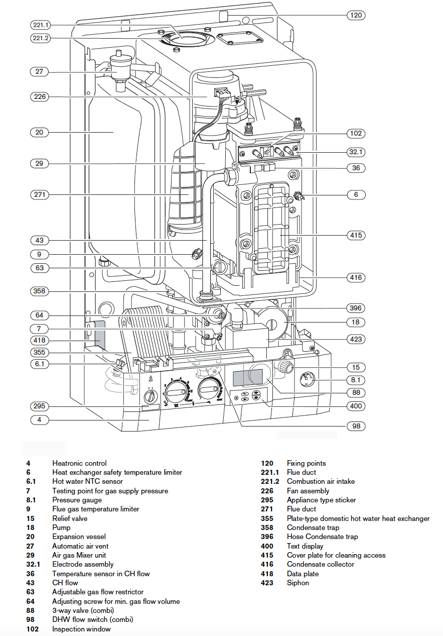 worcester bosch boiler parts diagram